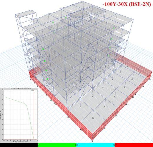 مدل ساختمان اداری مجهز به مهاربند کمانش تاب 3