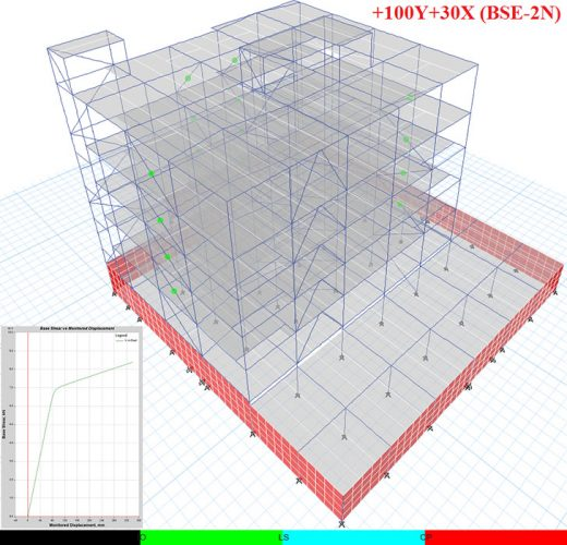 مدل ساختمان اداری مجهز به مهاربند کمانش تاب 4