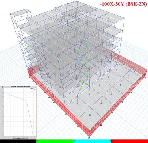 مدل ساختمان اداری مجهز به مهاربند کمانش تاب 1
