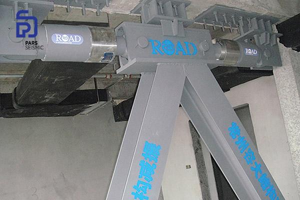 نصب میراگر ویسکوز در مهاربند شورون برای استهلاک انرژی زلزله