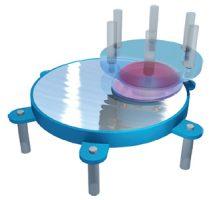 جداساز اصطکاکی پاندولی تک قوسی که برای جداسازی لرزه ای به کار می رود