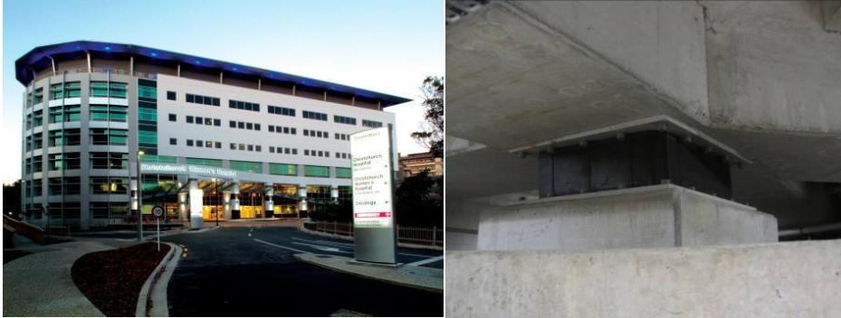 بیمارستان جداسازی لرزه ای شده کرایست چرچ که در زلزله این شهر هیچ آسیبی ندید