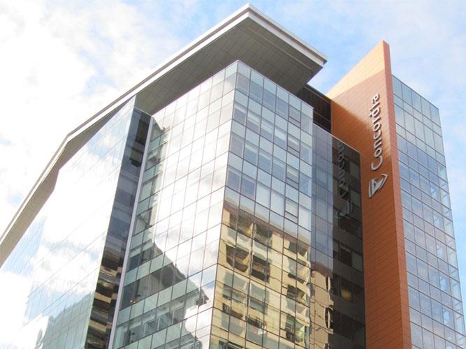 ساختمان دانشکده علوم مهندسی کونکوردیا مجهز به میراگر اصطکاکی (دمپر اصطکاکی)