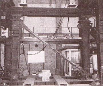 آزمایش بارگذاری چرخه ای مهاربند کمانش تاب (مهاربند کمانش ناپذیر) در 1987
