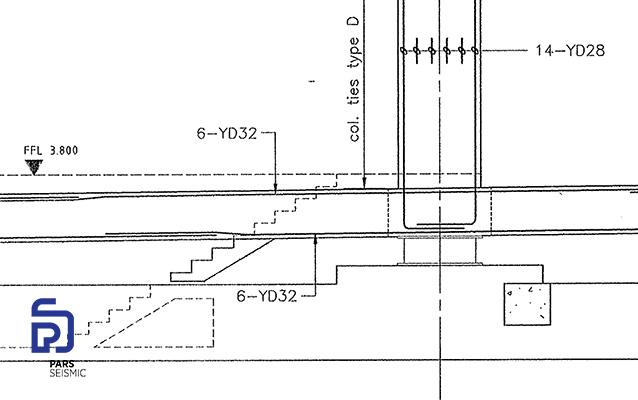 نقشه ای از ملاحظات معماری در تراز جداسازی لرزه ای