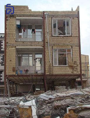 عدم کفایت ستون ها در قاب خمشی - زلزله کرمانشاه