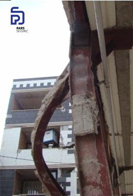 شکل 9: کمانش مهاربند فولادی - زلزله کرمانشاه