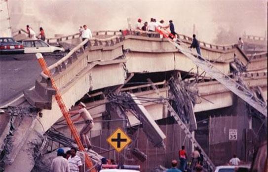 نمونه هایی از خسارت به پل ها در زلزله و فروریزش پل ها در زلزله 1989 Loma Prieta