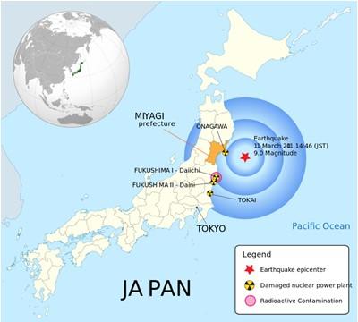 زلزله توهوکو، سندای، سونامی