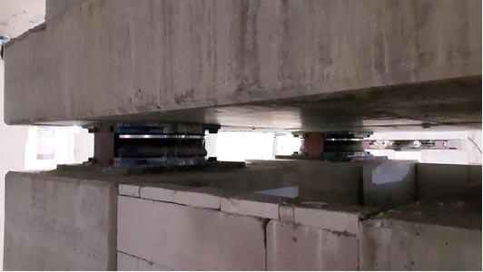 جداساز های اصطکاکی پاندولی بیمارستان جامع آدانا