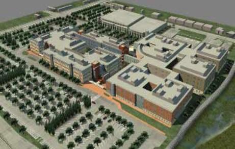 بیمارستان سانتا کلارا محهز به مهاربند کمانش تاب